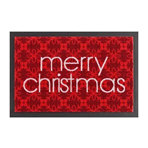 Hanse Home Fußmatte Schmutzfangmatte Merry Christmas Rot, 40x60 cm