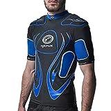 Optimum Veste de Inferno bandoulière Top de protection pourhomme ,Noir/Bleu-Large
