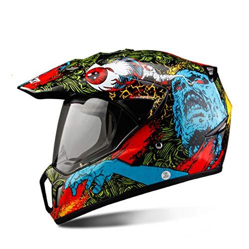 Sportinents Casco Negro la Motocicleta Casco Integral la Motocicleta Casco la Aventura los Hombres Motocross Hombres Red Skull L