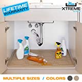 Xtreme Mats Under Sink Bathroom Cabinet Mat, Pick Your Size, CMV-27-BEIGE, Fits cabinets with Interior Dimensions of 25' x 19' or Larger