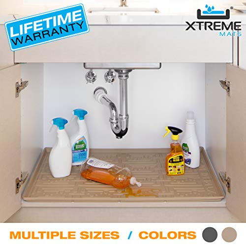 Xtreme Mats Under Sink Bathroom Cabinet Mat, Pick Your Size,...