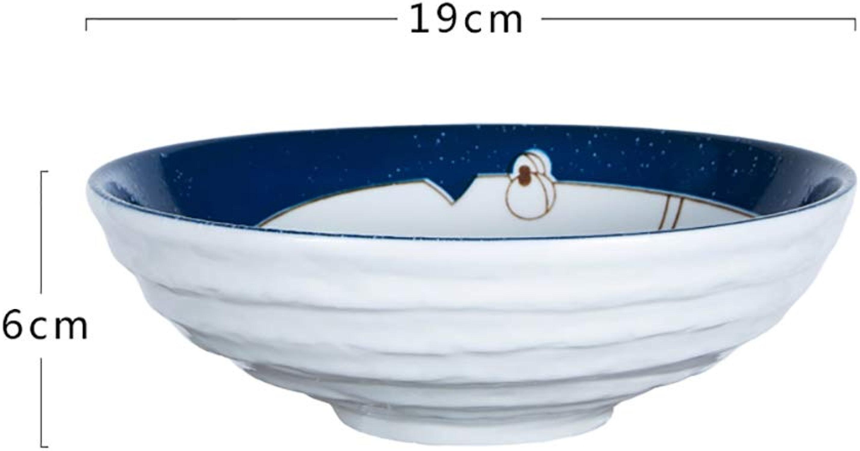 Bol, bol à mélanger de vaisselle de style japonais, bol à soupe en céramique, bol à salade maison aux légumes et fruits, bol à raHommes à fil personnalisé (19CM  6CM) (Couleur   SET OF2)