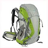 TOFINE Waterproof External Frame Packs Survival Hiking Backpack Shoulder Bag Rain Cover Green 48 Liter