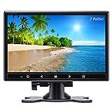Monitor da 7 Pollici Piccolo Schermo HDMI TFT LCD Display Full HD 1024x600, Entrata AV/VGA/HDMI, con Bottoni Tattili, Altoparlante Integrato, Compatibile con Telecamera di Sicurezza