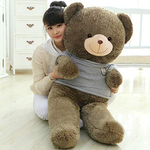prbll Teddybär Plüsch Spielzeug, halten Bär Puppen, halten Bär Puppen, riesige Panda Puppen, Mädchen senden Freundin Geschenke Hellgrauer Pullover 80 cm