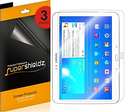 (3 Pack) Supershieldz for Samsung Galaxy Tab 3 10.1 inch Screen Protector, High Definition Clear Shield (PET)
