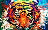 DIY Handwork Store 5D Watercolor Tiger Diamond Painting Kits Full Round with AB Drills Embroidery Cross Stitch Mosaic Arts Crafts Home Decor(15.7'x 23.6')