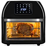 Best Choice Products 16.9qt 1800W 10-in-1 XXXL Family Size Air Fryer Countertop Oven, Rotisserie, Toaster, Dehydrator w/Digital LED Display, 12 Accessories, 9 Recipes - Black