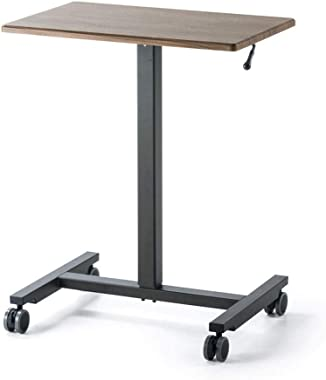 Coffee Table Side Table, Coffee Laptop Sofa Table, Adjustable Height Desktop Tray Table for Living Room, Bedroom, Balcony (Co