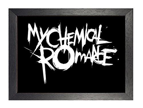 ula bear posters My Chemical Romance - Póster de Gerard Way Matt Pelissier Ray Toro Mikey Way Rock Metal Folk Blues Rock and Roll con diseño de Banda de música, A4 Framed
