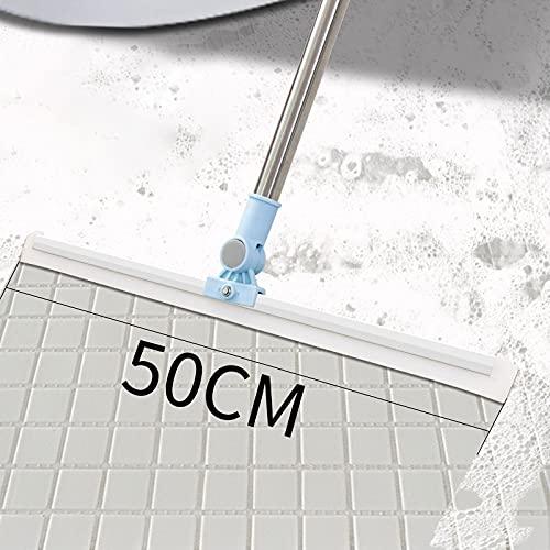 zhengyang Mopa para el hogar y la cocina multifuncional trapeador para el hogar fregona plana de lavado de ventanas limpiaparabrisas herramienta de limpieza del hogar fregona (color: azul 50 cm)