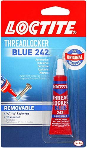 Loctite  Heavy Duty Threadlocker, 0.2 oz, Blue 242, 12 Pack