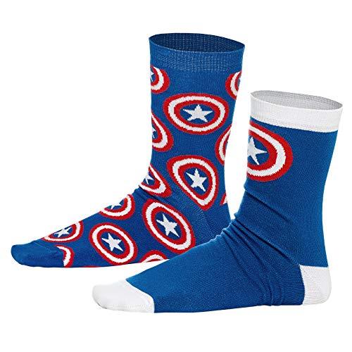 Captain america Elbenwald Marvel Socken-Set Shield Motiv Verschiedene Designs 2er Set Unisex - 43-46