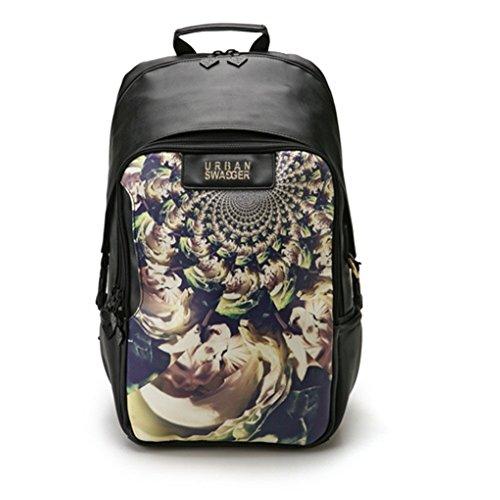 hatson Fashion Schule Rucksack Schultasche Urban Swagger Rucksack, 002BK