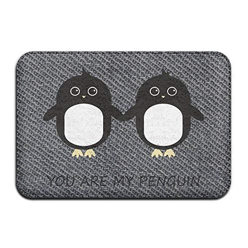 XGBDTJ Usted Es Mi Pingüino Felpudo Personalizado Felpudo Ornamento Diario único Retro Elegante Antideslizante Felpudo (Color : Colour, Size : Size)