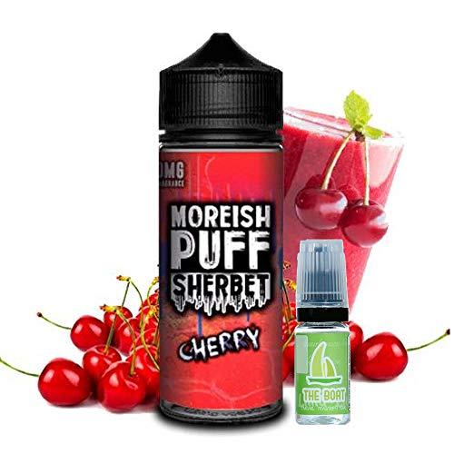 E Liquid Moreish Puff Sherbet Cherry 100ml - 70 vg 30 pg - Ohne Nikotin + Liquid The Boat 10ml Zitrone und Limette - Ohne Nikotin.