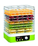 Concept Electrodomésticos SO1060 Deshidratador de alimentos, temporizador, con 9 bandejas rectangulares, temperatura...