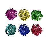 Lentejuelas de 1600 piezas redondas de color melena DIY manualidades decoraciones de fiest...