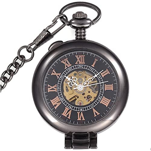 HHTD Reloj de Bolsillo Reloj Retro Color Reloj Mecánico Liso Hombres Y Mujeres Creativos Gráficos Mecánicos Mecánicos Claras Creativa Lente de Vidrio Flip Hueco Mecánico Mecánico Reloj de Regalo para