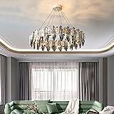 Iluminación colgante Lámpara LED de cristal para Techo Moderno Negro Oro rosa vintage para dormitorio Cocina Isla Baño Escalera Pasillo Comedor Sobre mesa Luces de Planchar Sombra Art Deco,12 luces