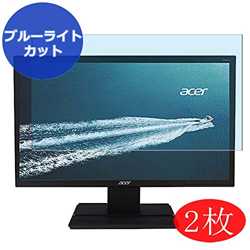 【2 Pack】 Synvy Anti Blue Light Screen Protector for Acer V246HL bmid/V246HL bd/V246WL ydp/V246HQL Cbid/V246HQL Cbd/V246HYL Cbmi/V246HL bmdp/V246HL bi/V246HL bip 24'[Not Tempered Glass]
