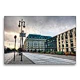 Premium Textil-Leinwand 75 x 50 cm Quer-Format Hotel Adlon