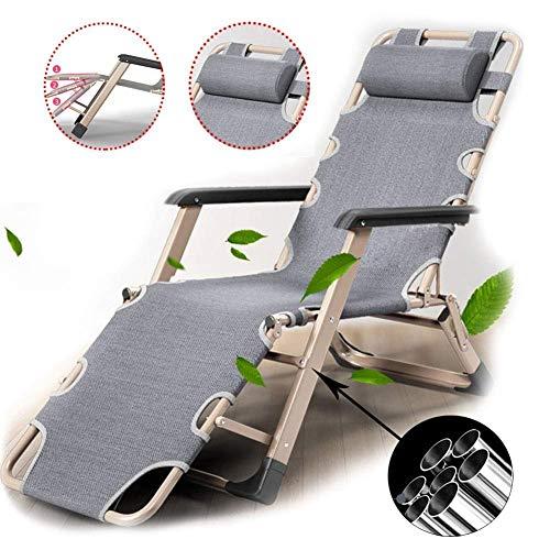 Tragbare Liege, Sonnenliege Zero Gravity Beach Lounge Chair mit Verstellbarer Kopfstütze Klappbarer Liegestuhl Zusammenklappbare Liegestühle für die Mittagspause im Büro