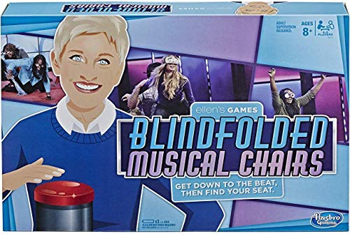 Hasbro Gaming Ellen's Games Blindfolded Musical Chairs Game, Ellen Degeneres Challenge for Ages 10 & Up