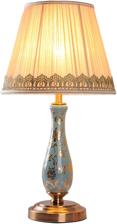HLQW Europäischen Stil Keramik Tischlampe, Schlafzimmer Schlafzimmer Schlafzimmer Nachttischlampe, Wohnzimmer Studie, warme Lampen und Laternen B07JK26BKJ     | Guter weltweiter Ruf  bf7df5