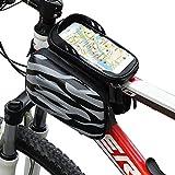 Festnight Touchscreen-Fahrradlenker-Tasche wasserdichte Frontrahmen-Oberrohr-Fahrradtasche Doppelpacktasche Packung mit hoher Kapazität für die Fahrrad-Front-Aufbewahrungstasche