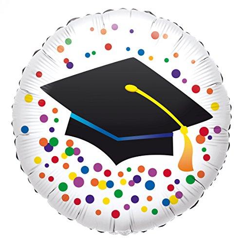 amscan 10050856 3771601 Folienballon Doktorhut