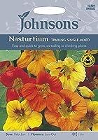 【輸入種子】 Johnsons Seeds Nasturtium TRAILING SINGLE MIXED ナスターチウム トレーリング・シングル・ミックス ジョンソンズシード