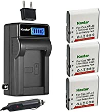Kastar 3-Pack LB-060 Battery and LCD AC Charger Compatible with Kodak PixPro AZ251, PixPro AZ361, PixPro AZ362, PixPro AZ365, PixPro AZ421, PixPro AZ501, PixPro AZ521, PixPro AZ522, PixPro AZ525