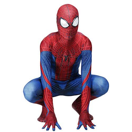 The Amazing Spider-Man Kostüm Superheld Cosplay Kleidung Halloween Weihnachten Kostüm Spider Man Fan Kleidungsstück für Kinder Erwachsene,Adult-M