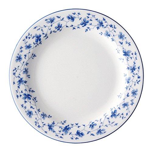 Arzberg Form 1382 Blaublüten Frühst.Teller 19/FA, Porzellan, White/Blue, 21.2 x 21.2 x 7.3 cm