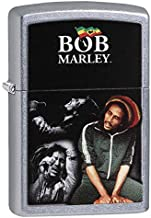 Zippo Bob Marley Color Imaged on a Street Chrome Lighter, One Size (29572)