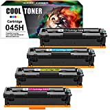 Cool Toner Compatible Toner Cartridge Replacement for Canon 045 045H Toner Cartridges Canon Color ImageCLASS MF634cdw MF632cdw LBP612cdw MF634 MF632 LBP612C Ink (Black Cyan Magenta Yellow, 4-Pack)