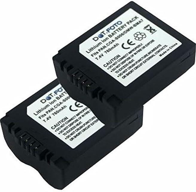 2 x Panasonic CGR-S006E DMW-BMA7 PREMIUM Dot.Foto Batería de Reemplazo - 7.4V/760mAh - Garantía de 2 años [Vea compatibilidad en la descripción]