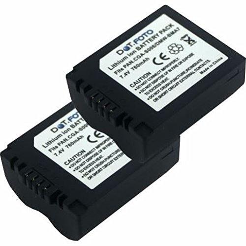 2 x Panasonic CGR-S006E, DMW-BMA7 PREMIUM Dot.Foto Batería de Reemplazo - 7.4V/760mAh - Garantía de 2 años [Vea compatibilidad en la descripción]