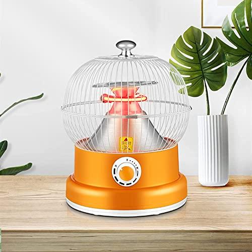 Calentador de Top de Mesa portátil, Calentador eléctrico de Patio al Aire Libre, súper Tranquilo y 360 ° Cálido instantáneo, Calentadores de Espacio pequeño, Mini Calentador infrarrojo
