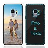 MXCUSTOM Funda Personalizada para Samsung Galaxy S9, Carcasa Personalizado Teléfono móvil Anti-Rasguños Vidrio Templado Parachoques Suave con Foto Imagen Texto Diseña (GHS-BK-P1)
