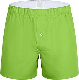 Macondoo Men's Juniors Pure Color Cotton Stretch Shorts Boxers
