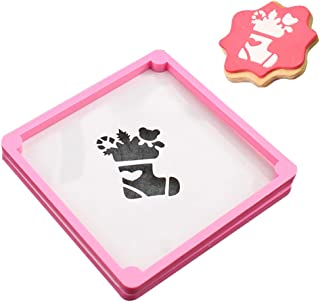 Cookie Stencil Frame, Stencil Frame for Fondant, Sugar and Royal Icing Cookie Making, Pink