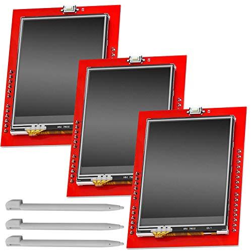 AZDelivery 3 x 2,4 Zoll TFT LCD Touch Display Shield Module SPI TFT 240x320 ILI9341 5V kompatibel mit Arduino inklusive E-Book!
