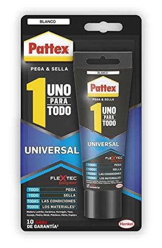 Pattex Uno para todo Universal, sellado, reparación, montaje, blanco, 142g