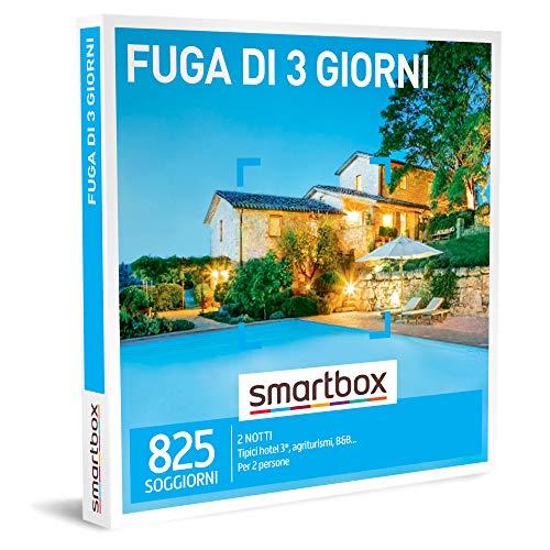 smartbox - Cofanetto Regalo Coppia - Fuga di 3 Giorni - Idee Regalo Originale - Un Soggiorno di 2 Notti per 2 Persone