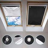Johgee 57 * 100CM Protección Solar térmica para Ventanas detecho Con ventosa, Protección térmica para Interiores para Velux ventanas de techo - Protector solar sin taladrar y sin Pegamento