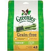 GREENIES Grain Free Natural Dental Dog Treats - Teenie (5-15 lb. dogs)
