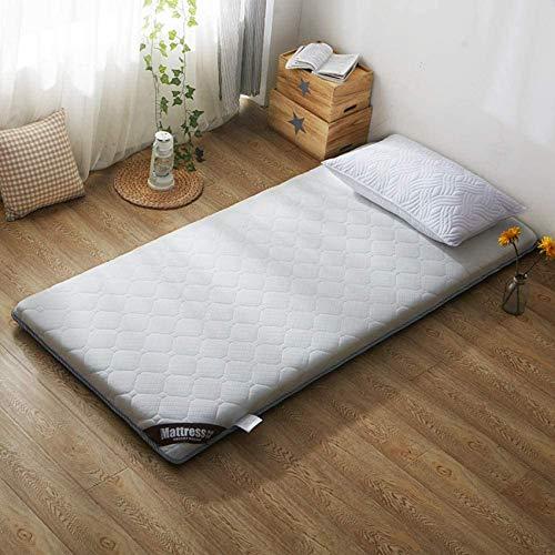 LJYY Dorm. Colchón grueso para cama de estudiantes, colchones, colchones, portátil, gris, 100 x 200 cm