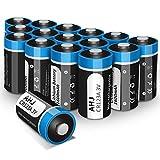 AHJ Batterie CR123A 3V 1600mAh, Confezione da 16, CR123 / CR17345 Batteria al litio Monouso [Non Ricaricabile NON per ARLO] per Flashlight, Macchina Fotografica, Polaroid, Giocattoli, Microfono, ecc.